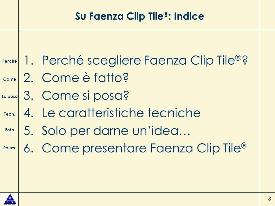 Su Faenza Clip Tile®: Indice