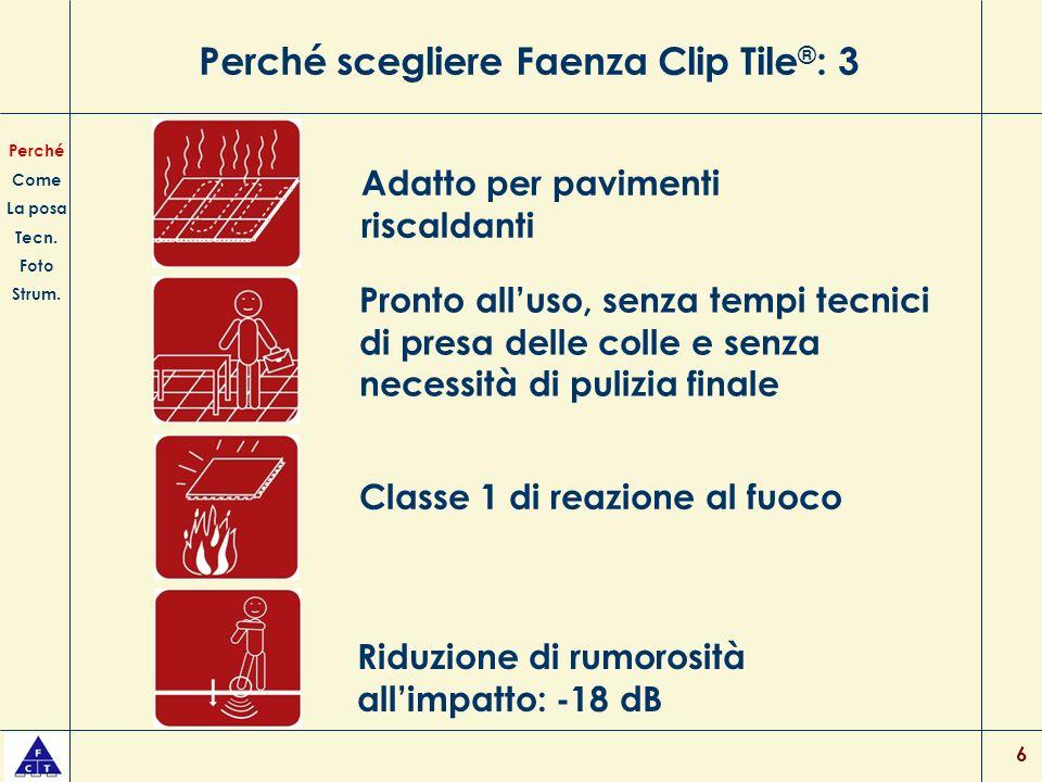 Perché scegliere Faenza Clip Tile®: 3