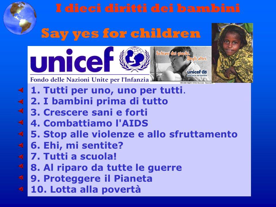 I dieci diritti dei bambini