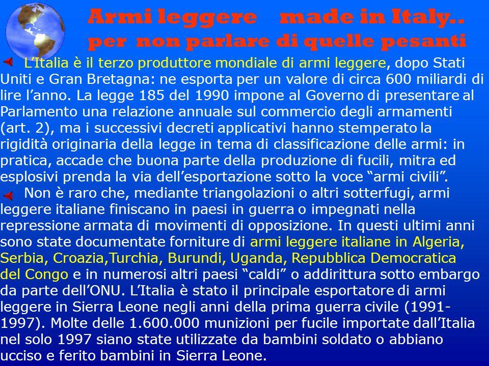 Armi leggere made in Italy.. per non parlare di quelle pesanti