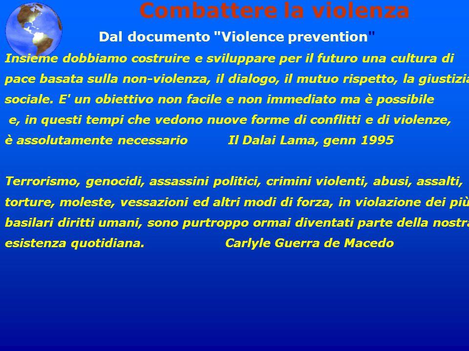 Combattere la violenza