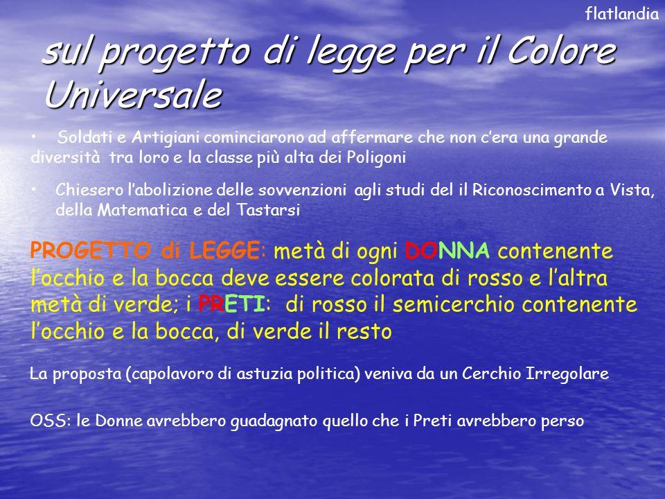 sul progetto di legge per il Colore Universale