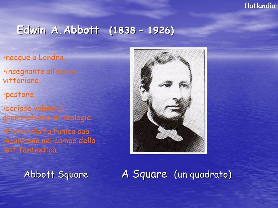 Edwin A.Abbott (1838 – 1926) Abbott Square A Square (un quadrato)