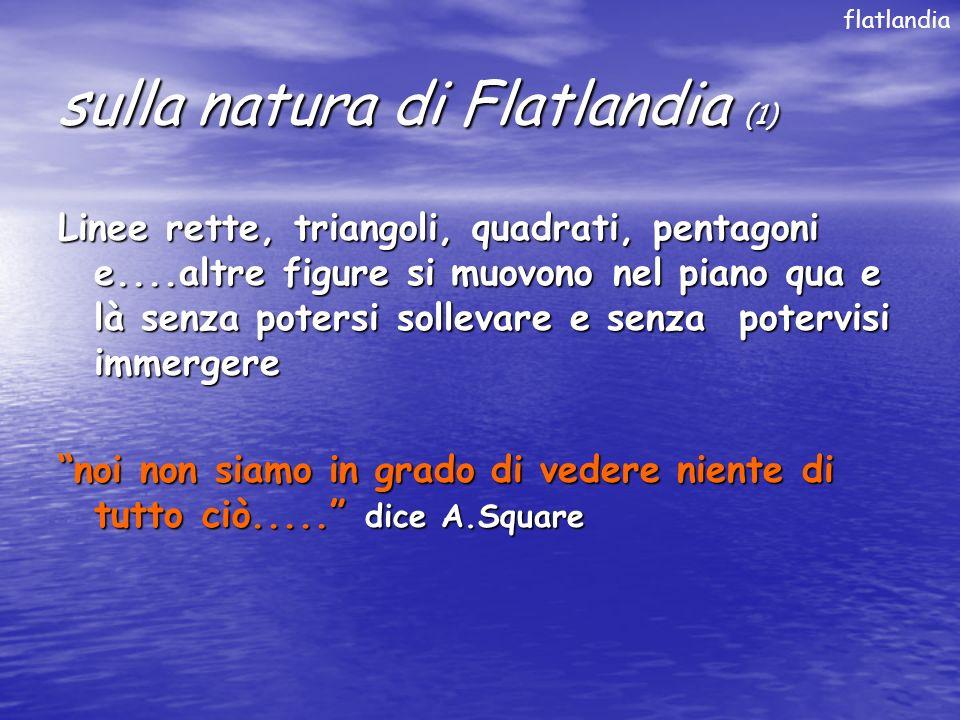 sulla natura di Flatlandia (1)