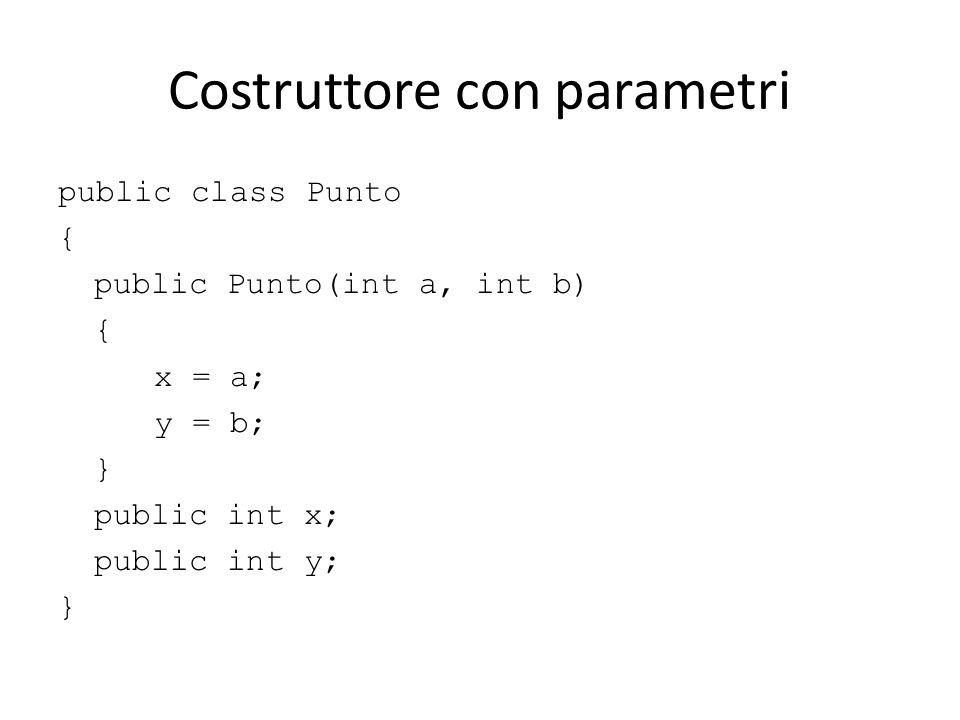 Costruttore con parametri