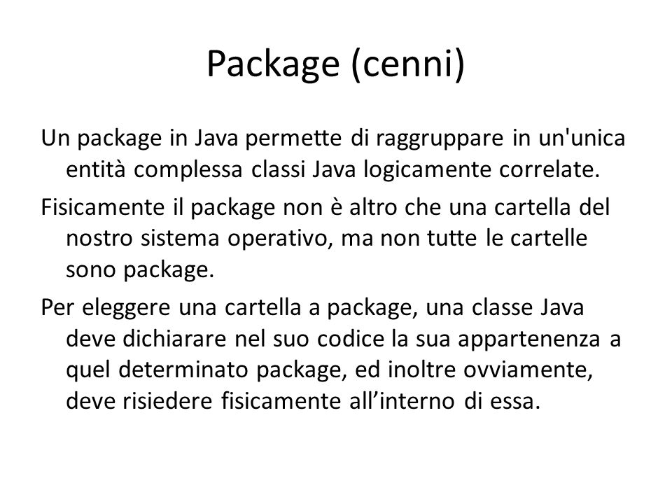 Package (cenni)