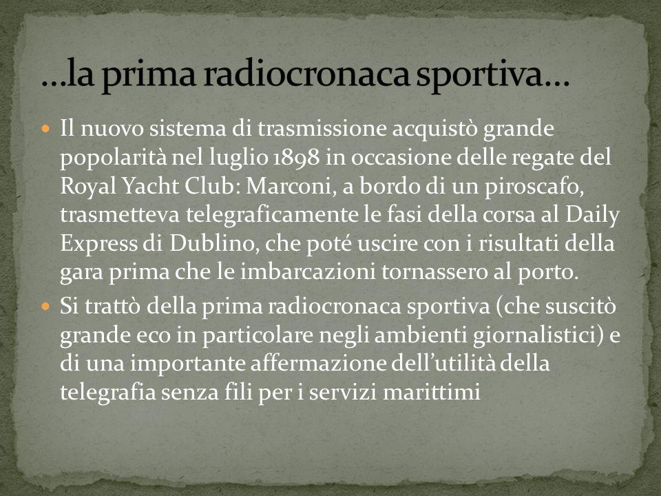 …la prima radiocronaca sportiva…