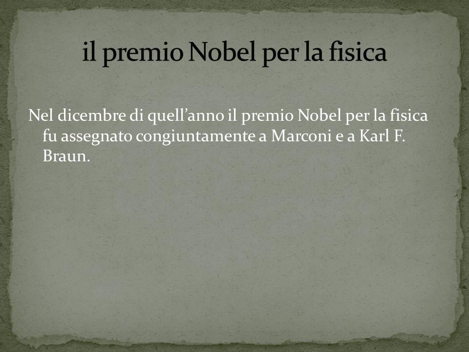 il premio Nobel per la fisica