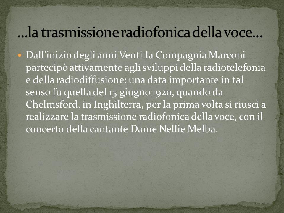 …la trasmissione radiofonica della voce…