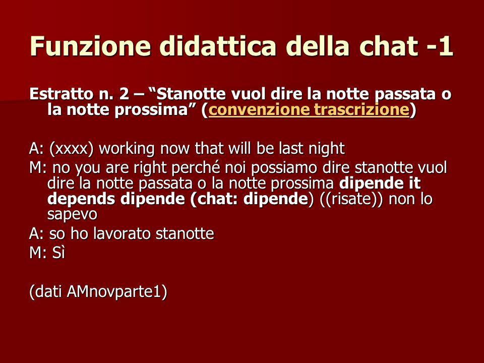 Funzione didattica della chat -1