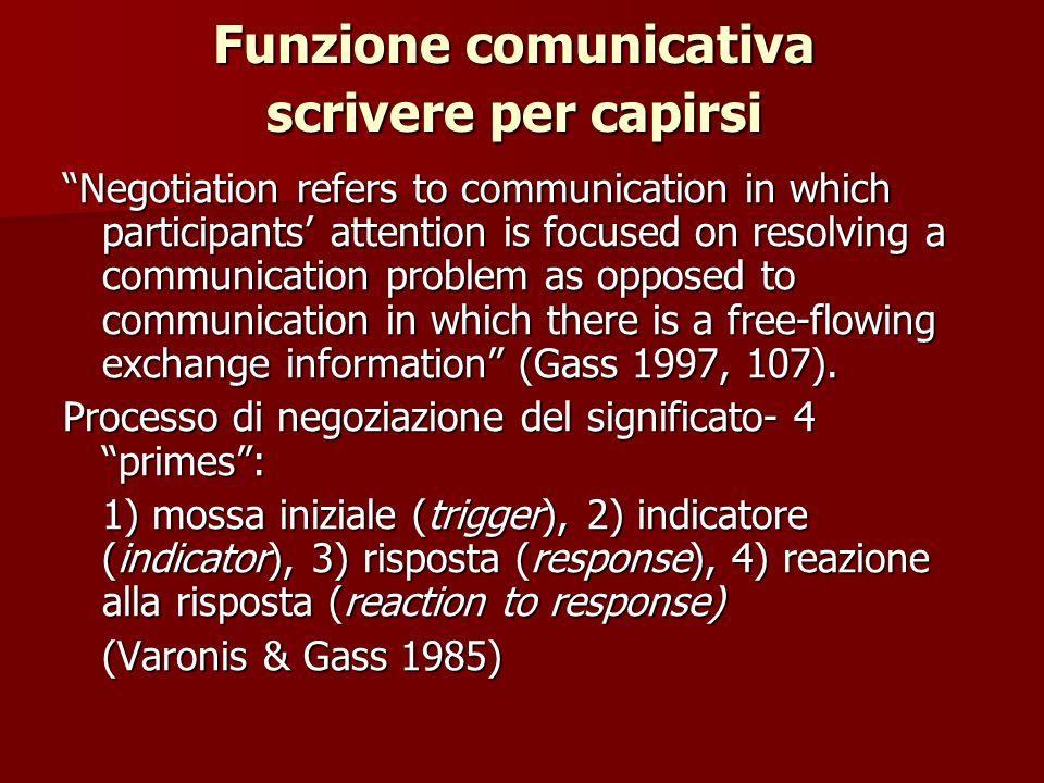 Funzione comunicativa scrivere per capirsi