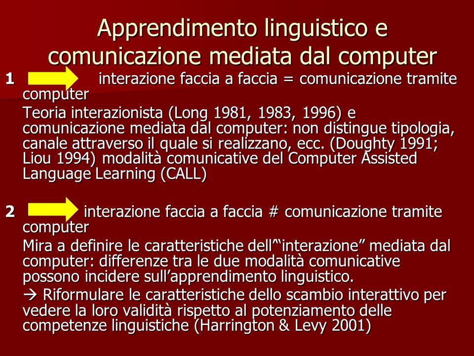 Apprendimento linguistico e comunicazione mediata dal computer