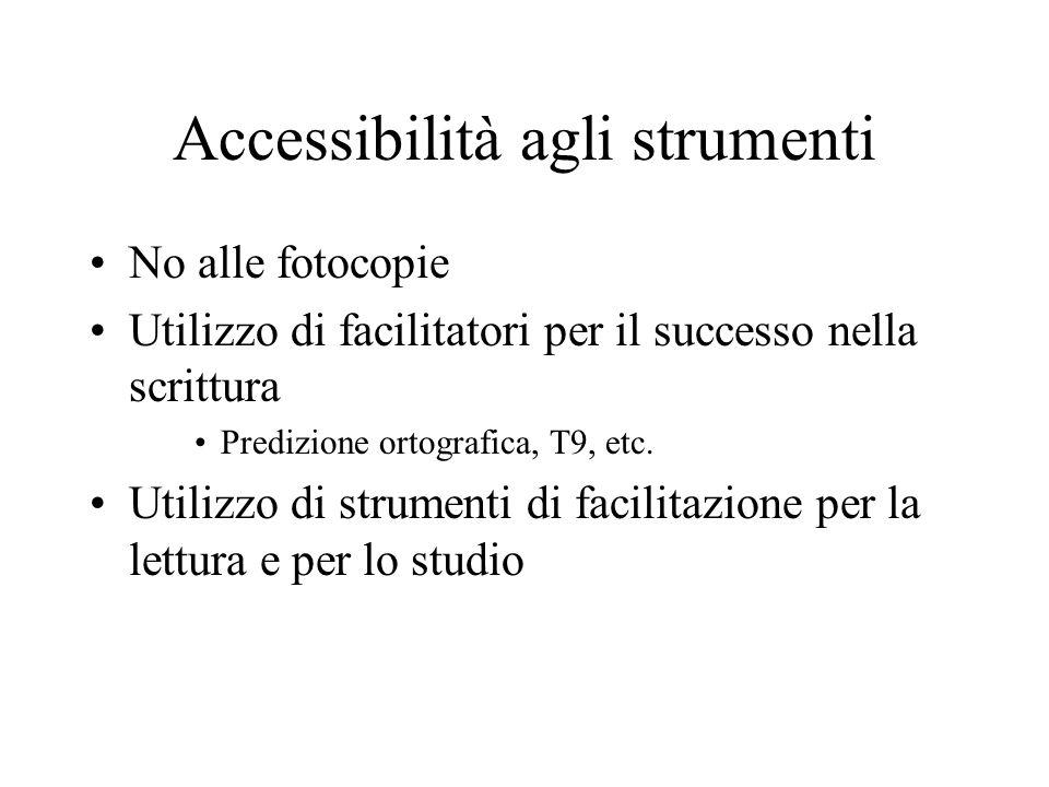 Accessibilità agli strumenti