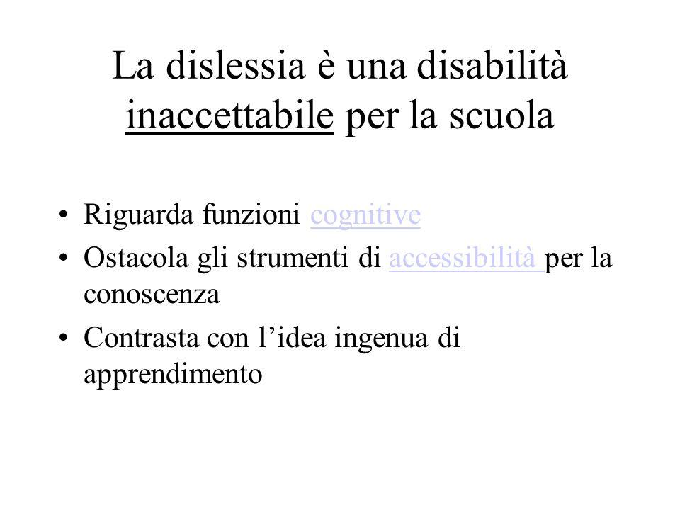 La dislessia è una disabilità inaccettabile per la scuola