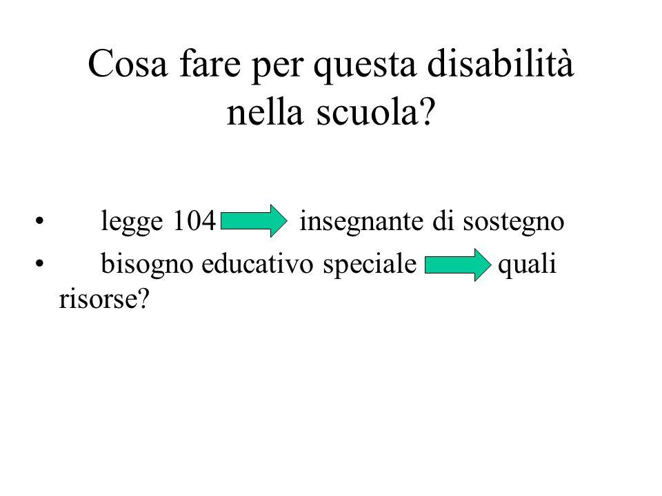 Cosa fare per questa disabilità nella scuola