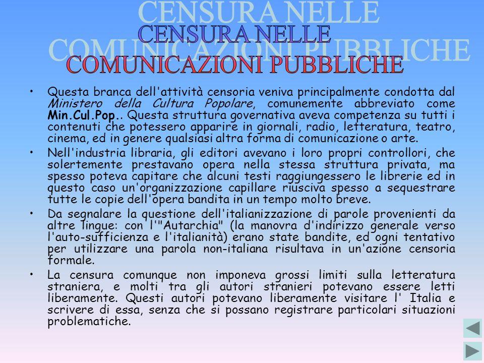 COMUNICAZIONI PUBBLICHE