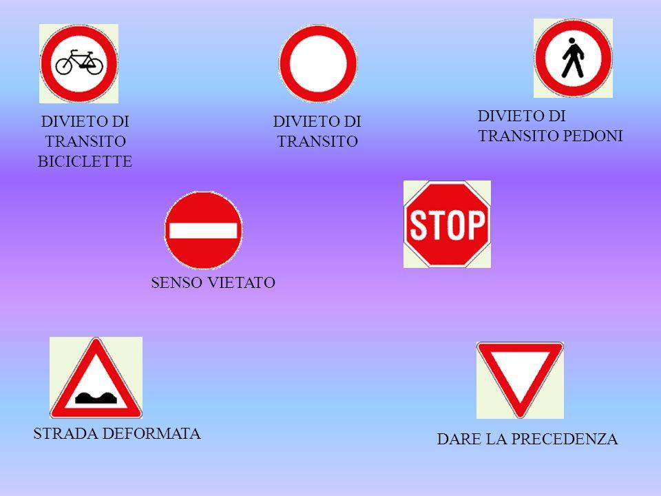 DIVIETO DI TRANSITO BICICLETTE