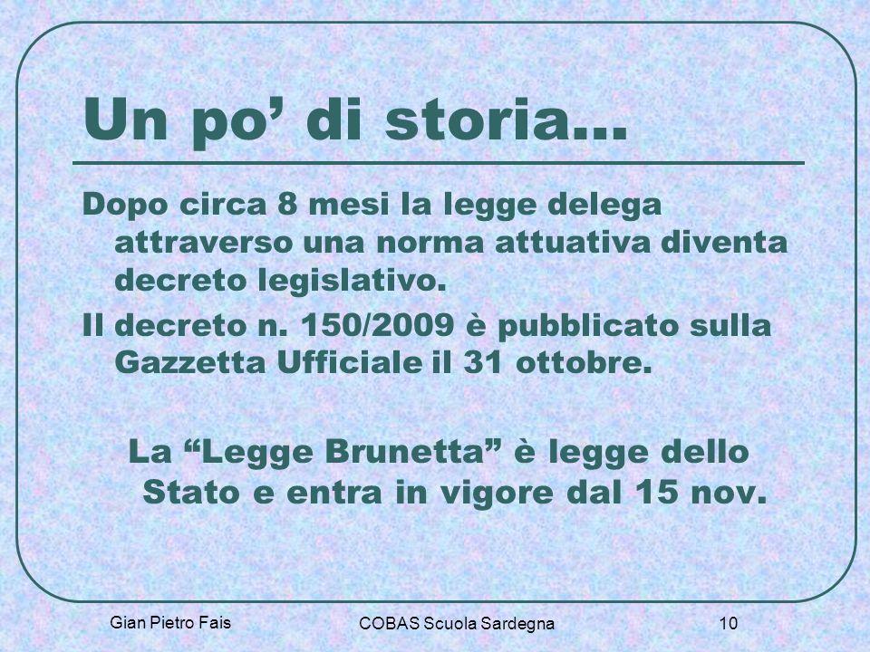 La Legge Brunetta è legge dello Stato e entra in vigore dal 15 nov.