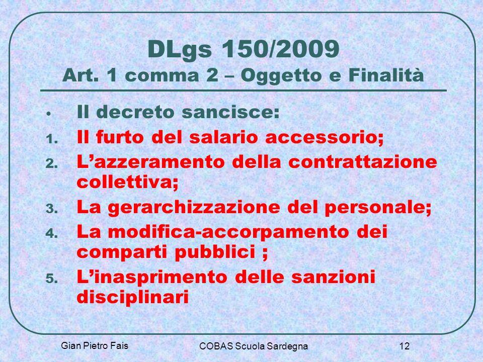 DLgs 150/2009 Art. 1 comma 2 – Oggetto e Finalità