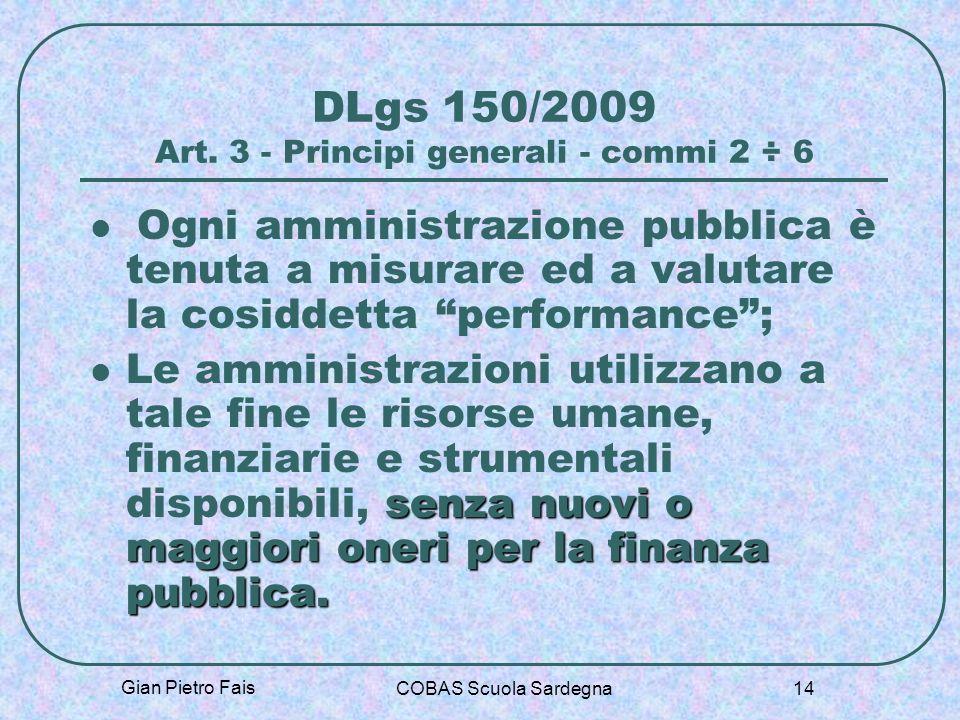 DLgs 150/2009 Art. 3 - Principi generali - commi 2 ÷ 6