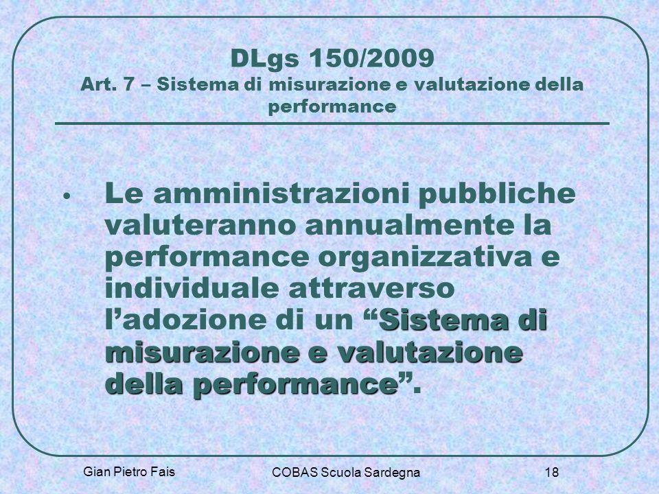 DLgs 150/2009 Art. 7 – Sistema di misurazione e valutazione della performance
