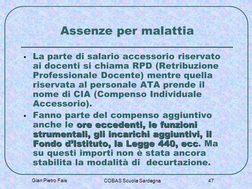 Assenze per malattia