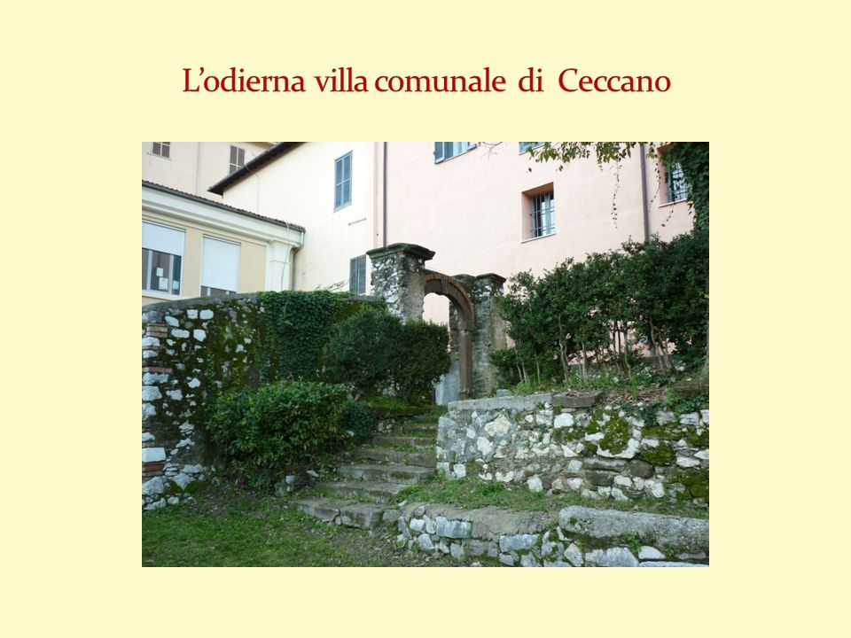 L'odierna villa comunale di Ceccano