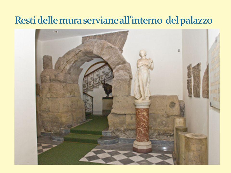 Resti delle mura serviane all'interno del palazzo