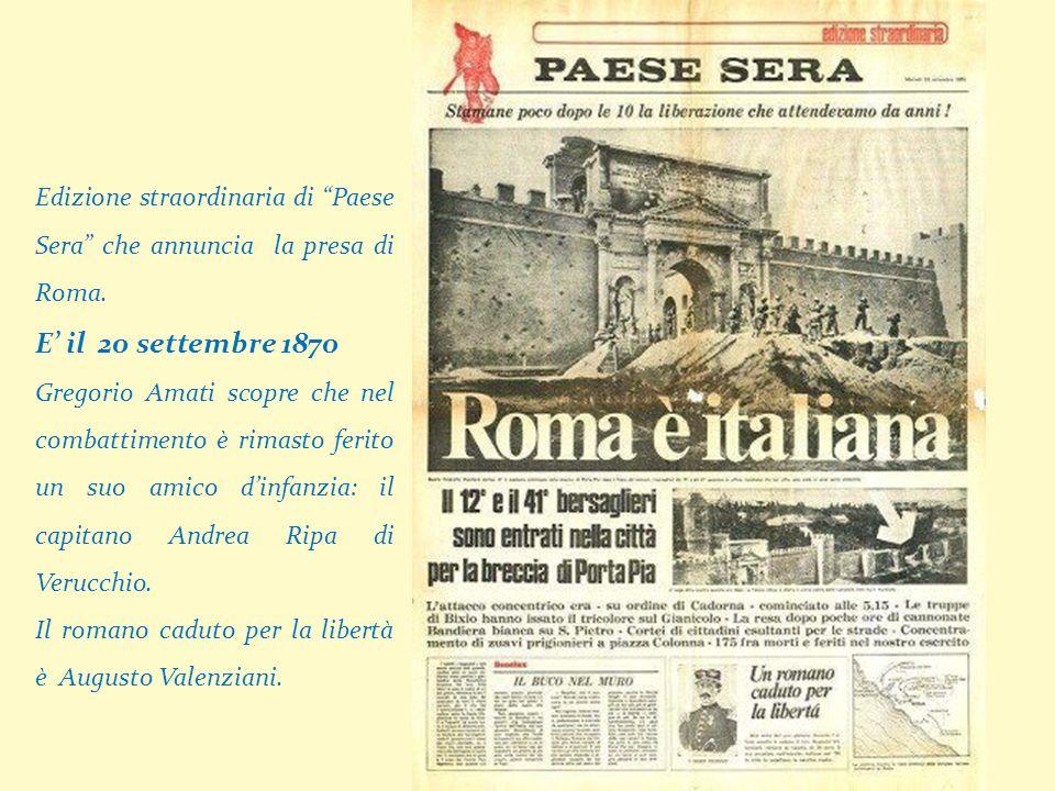 Edizione straordinaria di Paese Sera che annuncia la presa di Roma.