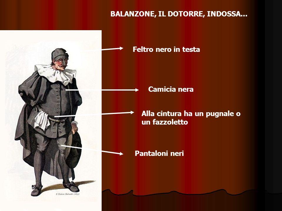 BALANZONE, IL DOTORRE, INDOSSA...