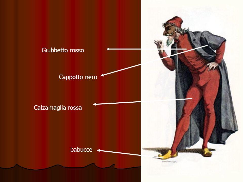 Giubbetto rosso Cappotto nero Calzamaglia rossa babucce