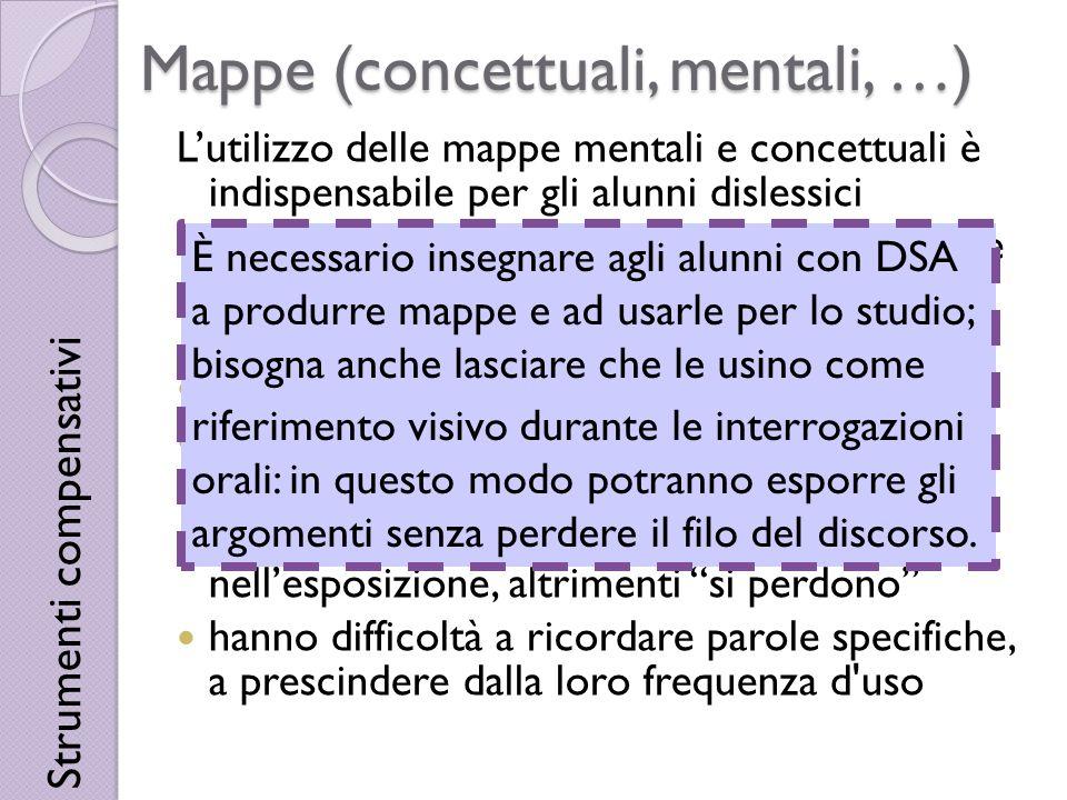 Mappe (concettuali, mentali, …)
