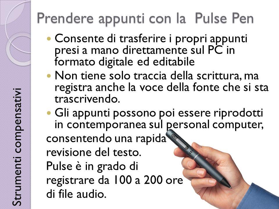 Prendere appunti con la Pulse Pen