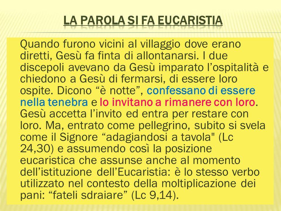 La Parola si fa Eucaristia