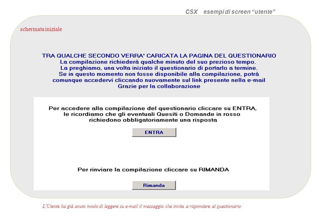 CSX esempi di screen utente