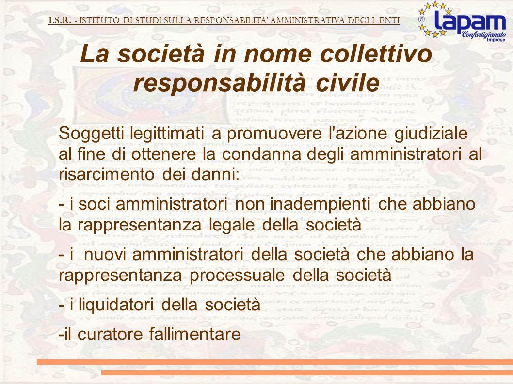 La società in nome collettivo responsabilità civile