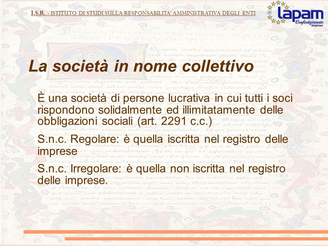 La società in nome collettivo