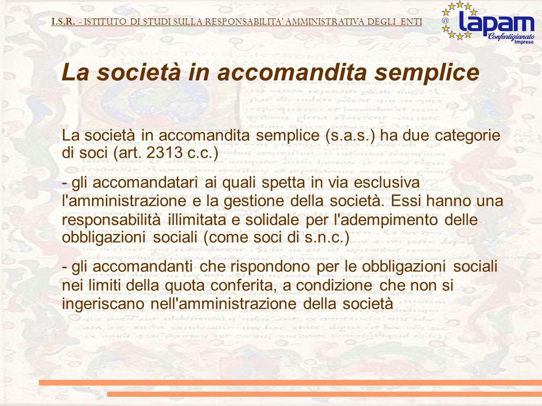 La società in accomandita semplice