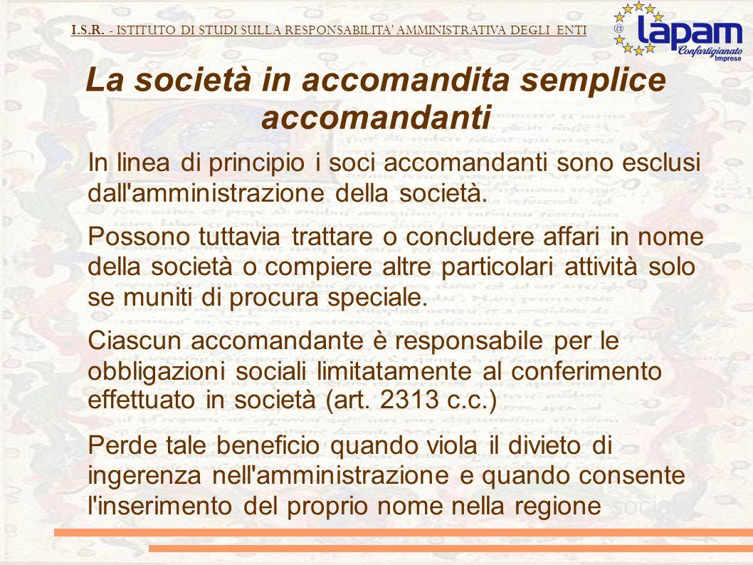 La società in accomandita semplice accomandanti