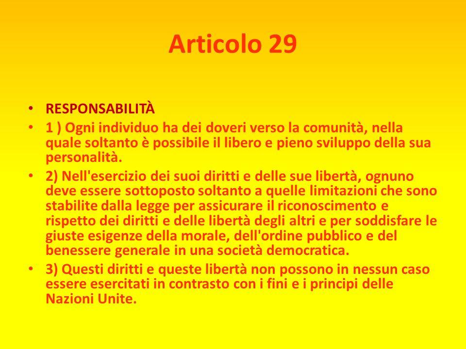 Articolo 29 RESPONSABILITÀ