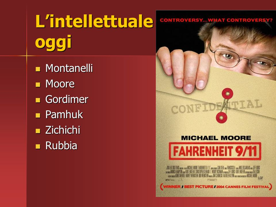 L'intellettuale oggi Montanelli Moore Gordimer Pamhuk Zichichi Rubbia