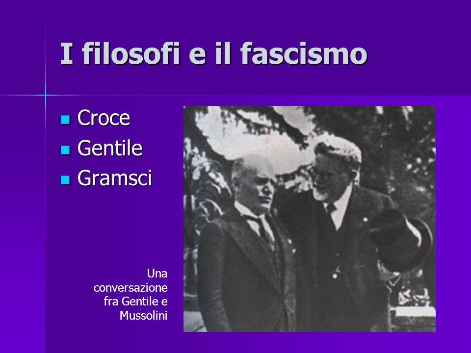 I filosofi e il fascismo