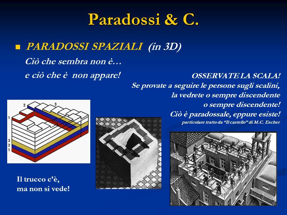Paradossi & C. PARADOSSI SPAZIALI (in 3D) Ciò che sembra non è…