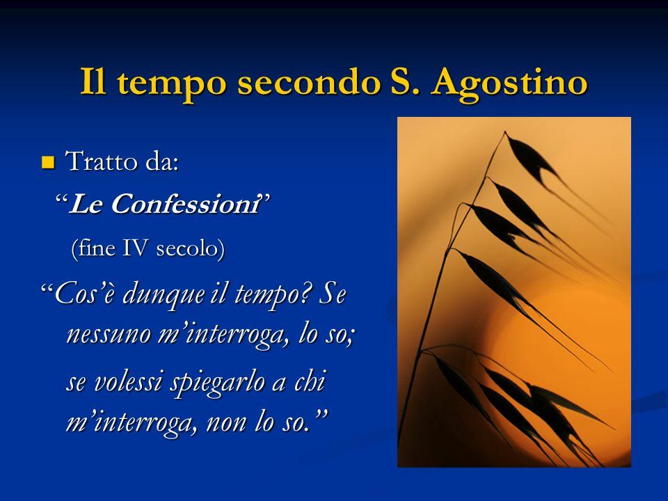 Il tempo secondo S. Agostino