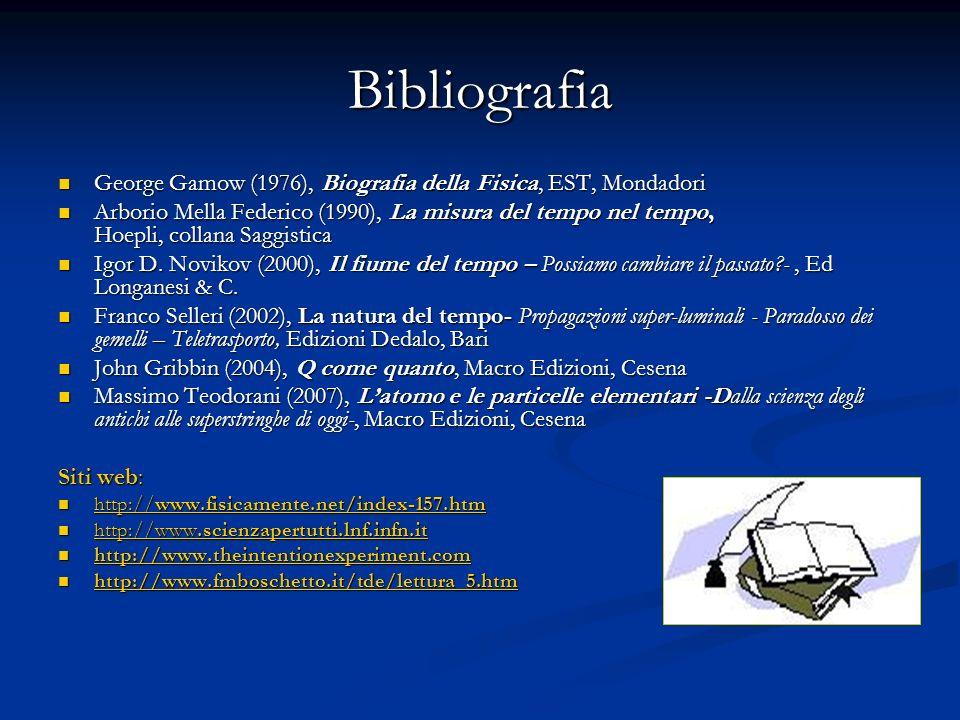Bibliografia George Gamow (1976), Biografia della Fisica, EST, Mondadori.