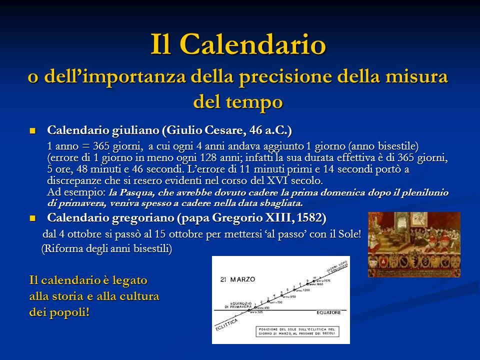 Il Calendario o dell'importanza della precisione della misura del tempo