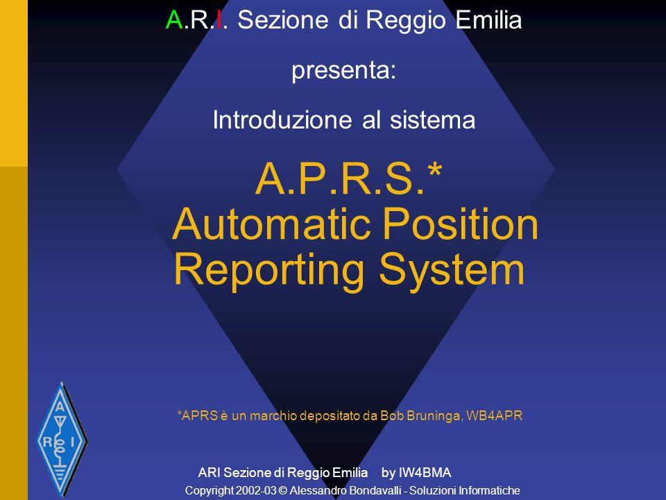 ARI Reggio Emilia introduzione al sistema APRS