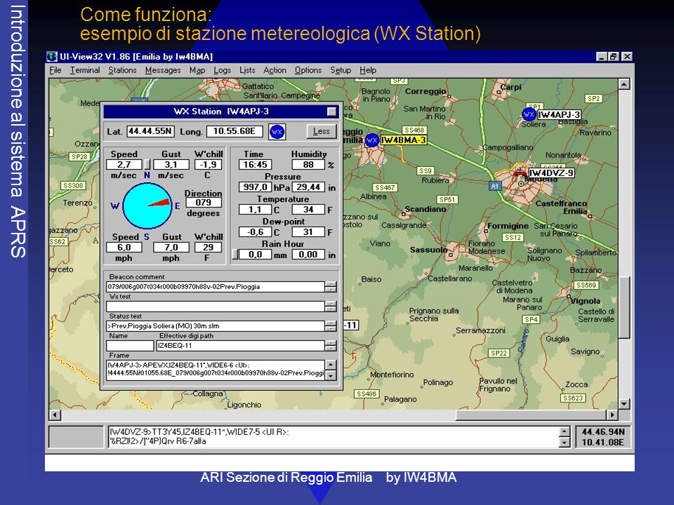 Come funziona: esempio di stazione metereologica (WX Station)