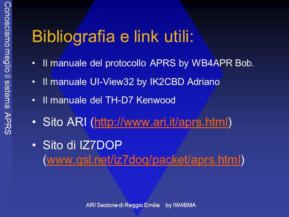 Bibliografia e link utili: