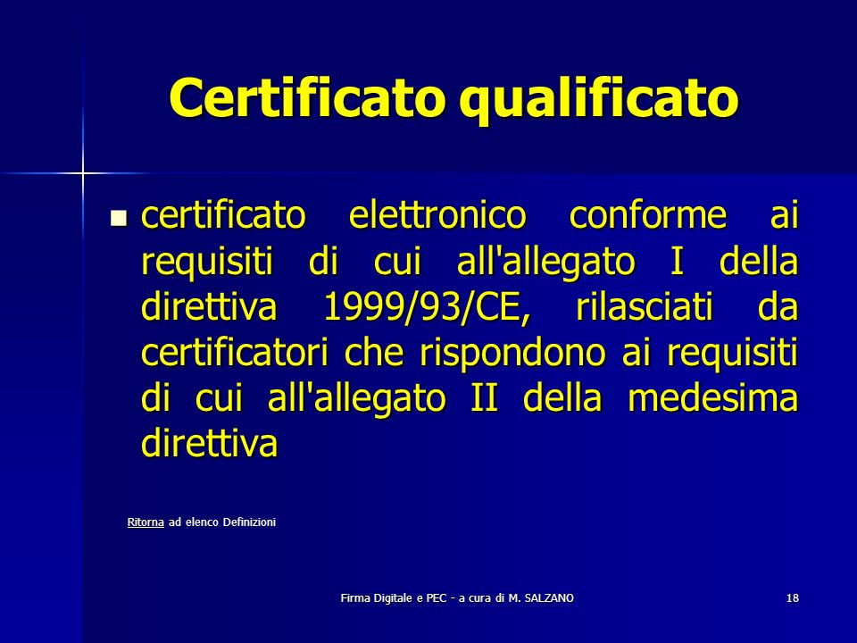 Certificato qualificato